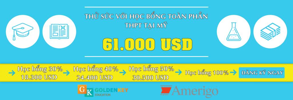 Thử sức cùng học bổng toàn phần THPT tại Mỹ 2018 - trị giá 61.000 USD