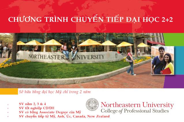 Chương trình chuyển tiếp 2 năm cuối tại Northeastern University - Top 42 Hoa Kỳ